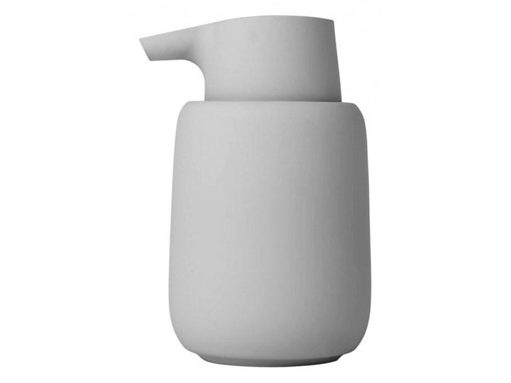 Dozownik do mydła 250ml Blomus SONO jasnoszary kod: B69063 Dozowniki Ceramika Tworzywo sztuczne Plastik Kategoria Mydelniczki i dozowniki