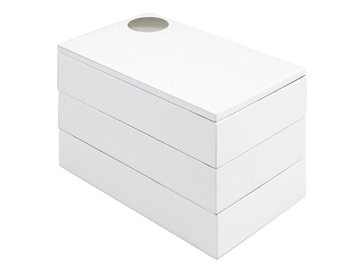 Szkatułka na biżuterię/zdjęcia Umbra Spindle biała kod: 308712-660 Szkatułki Drewno Kolor Biały