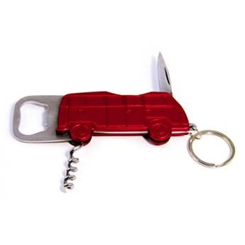 Otwieracz 12x4,5x1 cm BRISA VW BUS czerwona kod: BR-BUPK02