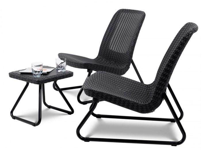 Zestaw mebli 77,5x61x54cm Bazkar RIO PATIO szary kod: 001216 Rattan Stoły z krzesłami Tworzywo sztuczne Zawartość zestawu Fotele