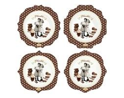 Zestaw talerzy 4 szt. Nuova R2S Chocolate Vintage kod: 1129 CHOV