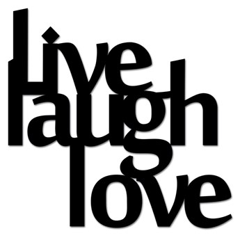 Napis 3D na ścianę DekoSign LIVE LAUGH LOVE czarny kod: LLL1-1