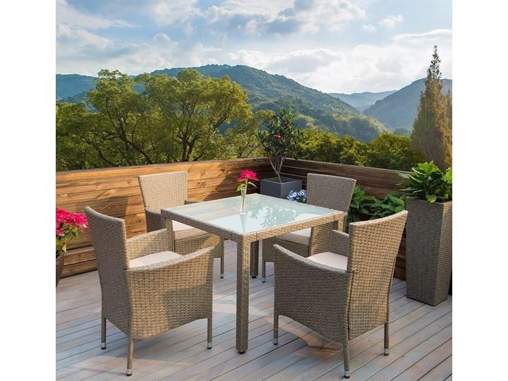 Meble ogrodowe SALSA, komplet mebli z technorattanu Zestawy wypoczynkowe Stoły z krzesłami Tworzywo sztuczne Aluminium Aluminium Stal Stal Tworzywo sztuczne Zawartość zestawu Z fotelem
