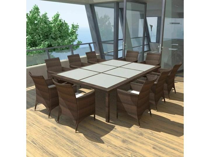 Zestaw ogrodowy SANTA CRUZ meble ogrodowe z technorattanu dla 10 osób Tworzywo sztuczne Aluminium Stal Stal Tworzywo sztuczne Aluminium Zestawy wypoczynkowe Zawartość zestawu Z fotelem