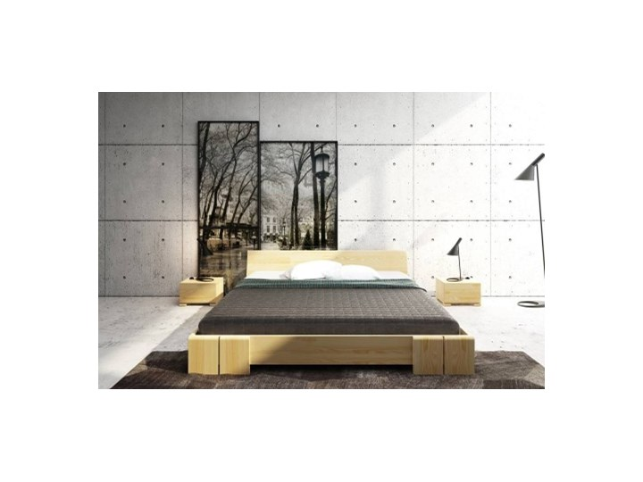 łóżko Drewniane Sosnowe Vestre Long 90 200x220 łóżka Do