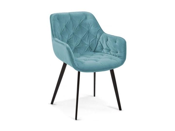 Krzesło z podłokietnikami Mulder 58x81 cm turkusowe