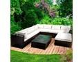 Narożnik ogrodowy LUXUS , meble ogrodowe z technorattanu Zestawy wypoczynkowe Tworzywo sztuczne Tworzywo sztuczne Zawartość zestawu Ze stołem