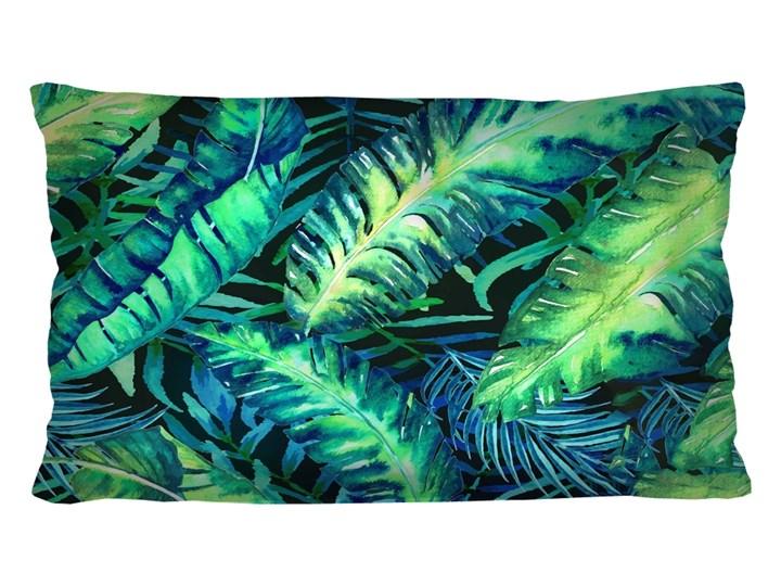 Poduszka - CALIPSO - 30x50 cm Kolor Zielony Poduszka dekoracyjna Poszewka dekoracyjna Prostokątne Welur Wzór Z nadrukiem