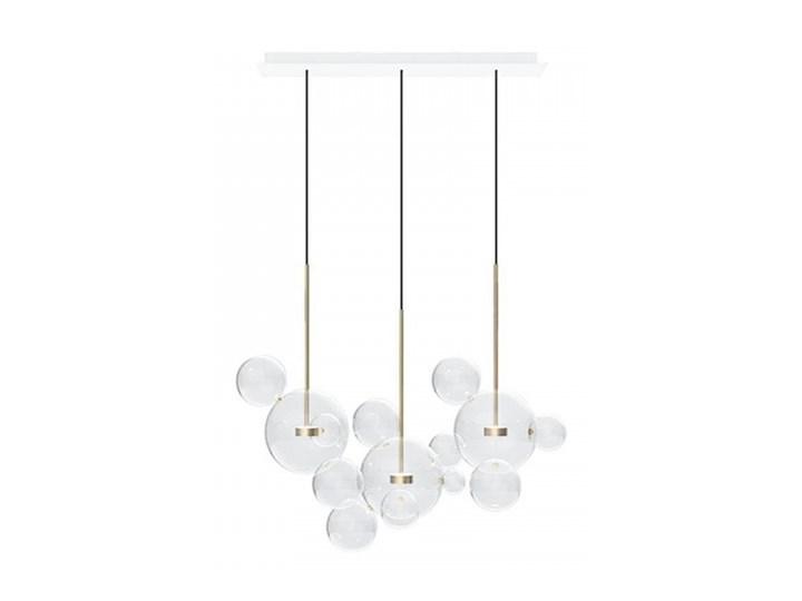 Żyrandol CAPRI LINE 3 - szklane kule Lampa LED Stal Kolor Złoty Metal Szkło Lampa z kloszem Kategoria Lampy wiszące