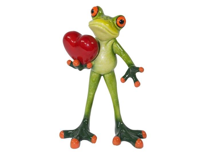 Żaba z sercem Sorwa Kolor Zielony Tworzywo sztuczne Kategoria Figury i rzeźby