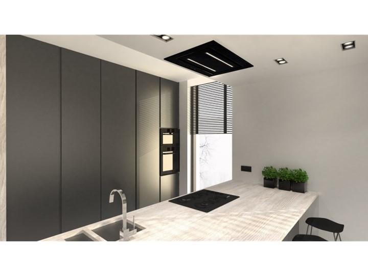 Okap sufitowy Grand Black 120 cm Szerokość 96 cm Kolor Czarny