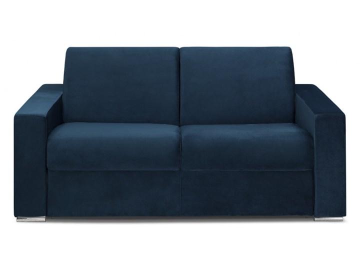 4 Osobowa Rozkładana Sofa Z Weluru Calito Kolor Granatowy łóżko 160 Cm Materac 22cm