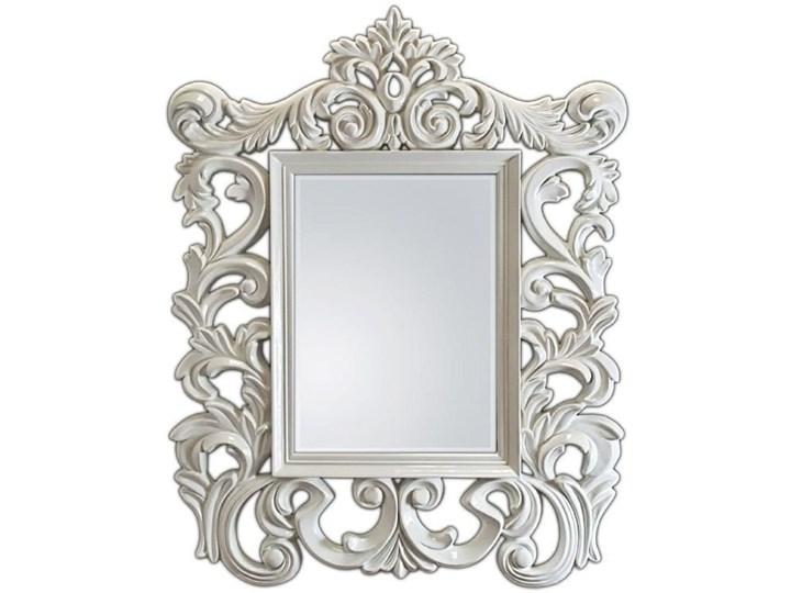 Byredo Oud Białe Lustro Dekoracyjne W Stylowej Ramie Styl Glamour 87x112cm