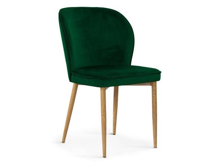 Krzesło ANE aksamit zieleń / dąb