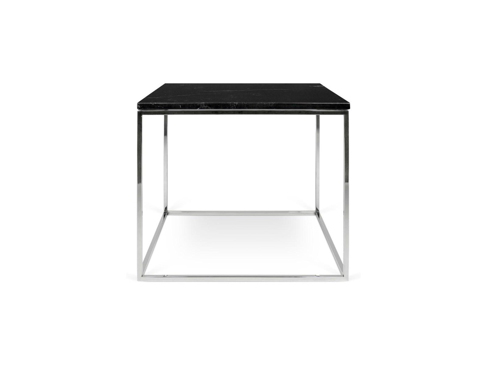 Stolik kawowy Cross 50x50 cm przydymiony nogi czarne
