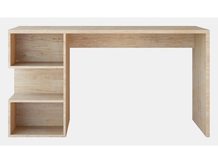 Brązowe biurko Martha Brown, szer. 140 cm