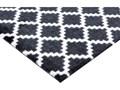 Czarno-biała wycieraczka Hanse Home Elegance, 50x70 cm Tworzywo sztuczne Kolor Biały Kolor Czarny
