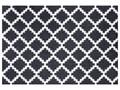 Czarno-biała wycieraczka Hanse Home Elegance, 50x70 cm Tworzywo sztuczne Kolor Biały