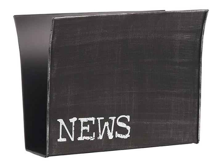 Czarny gazetnik metalowy LABEL51
