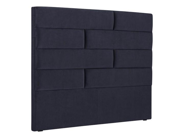 Granatowy Zagłówek łóżka Cosmopolitan Design New York Szer 140 Cm