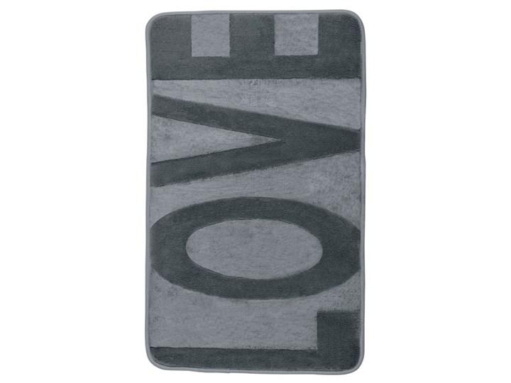 Szary dywanik łazienkowy z pianką z pamięcią kształtu Wenko Love, 80x50 cm 50x80 cm Kategoria Dywaniki łazienkowe