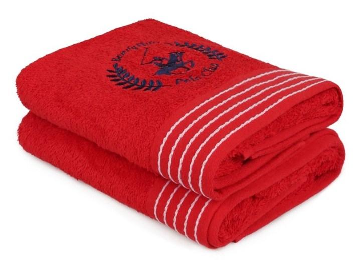 eafd739cf82692 Zestaw dwóch czerwonych ręczników kąpielowych Beverly Hills Polo Club  Horses, 140x70 cm Komplet ręczników Ręcznik