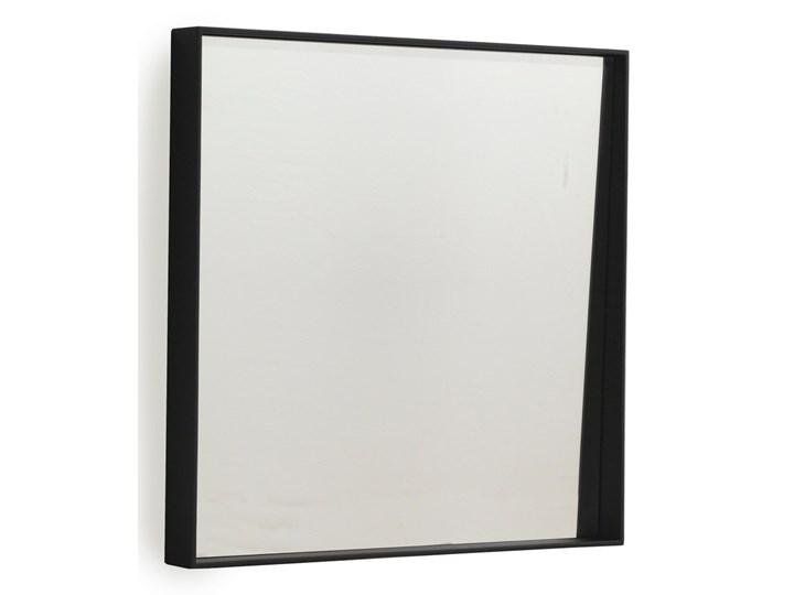 Czarne lustro ścienne Geese Thin, 40x40 cm