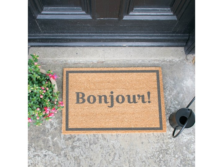 Wycieraczka Artsy Doormats Bonjour Grey, 40x60 cm Włókno kokosowe Kategoria Wycieraczki