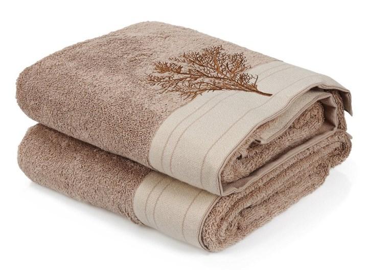 Zestaw 2 brązowych ręczników bawełnianych Infinity, 70x140 cm Bawełna Komplet ręczników