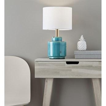 Niebiesko-biała lampa stołowa Markslöjd Cous