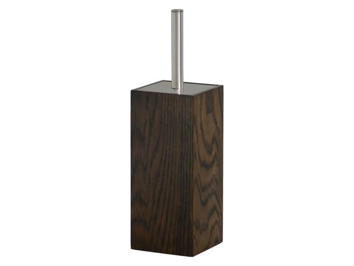 Szczotka do WC z drewna dębowego Mezza Dark Wireworks Wolnostojąca Ścienna Styl klasyczny