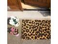 Wycieraczka z naturalnego włókna kokosowego Artsy Doormats Leopard, 40x60 cm Kolor Beżowy Włókno kokosowe Kategoria Wycieraczki