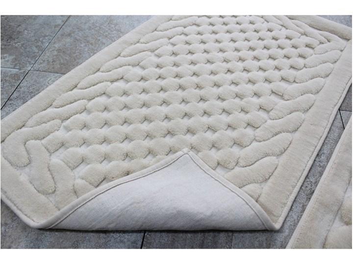 Komplet 2 beżowych bawełnianych dywaników łazienkowych Bambi Prostokątny Bawełna 60x100 cm Kategoria Dywaniki łazienkowe
