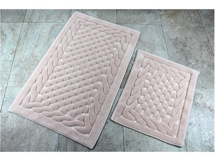 Zestaw 2 dywaników łazienkowych Alessia Bambi Powder 60x100 cm 50x60 cm Prostokątny Kategoria Dywaniki łazienkowe