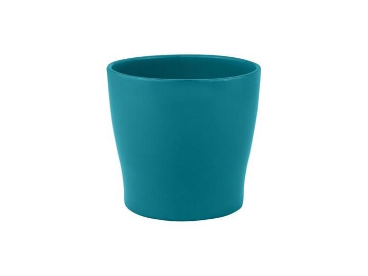 Doniczka Ceramiczna 16 Cm Turkusowa Toskania Ceramik
