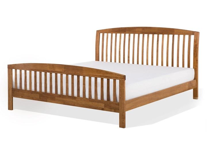 Łóżko ciemne drewniane 160 x 200 cm z ramą stelażem zagłówkiem i zanóżkiem Łóżko drewniane Kategoria Łóżka do sypialni Rozmiar materaca 160x200 cm