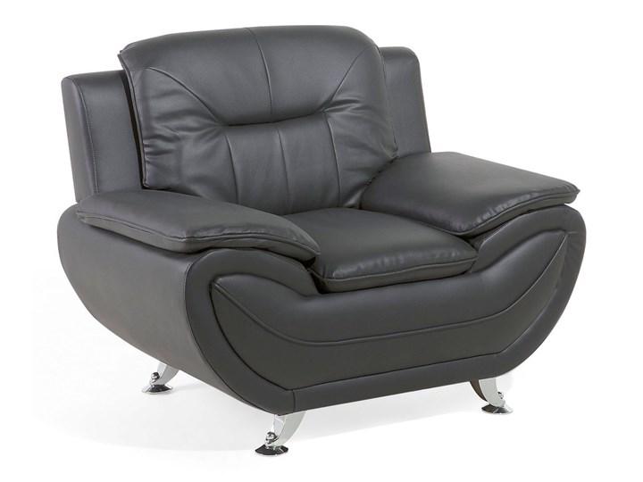 aca6c050755a1 Fotel skóra ekologiczna szary LEIRA - Fotele do salonu - zdjęcia ...