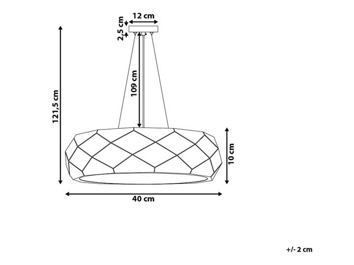 Lampa wisząca czarna metalowa 121 cm ażurowa geometryczny klosz 3 żarówki nowoczesna Kategoria Lampy wiszące Lampa inspirowana Tworzywo sztuczne Styl Nowoczesny