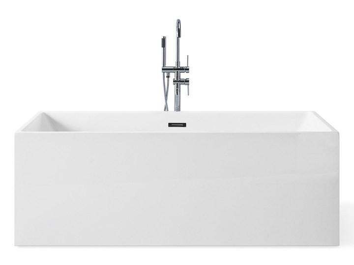 Wanna wolnostojąca biała akrylowa 170 x 81 cm system przelewowy prostokątna współczesna Wolnostojące Symetryczne Długość 170 cm Kolor Biały Kategoria Wanny