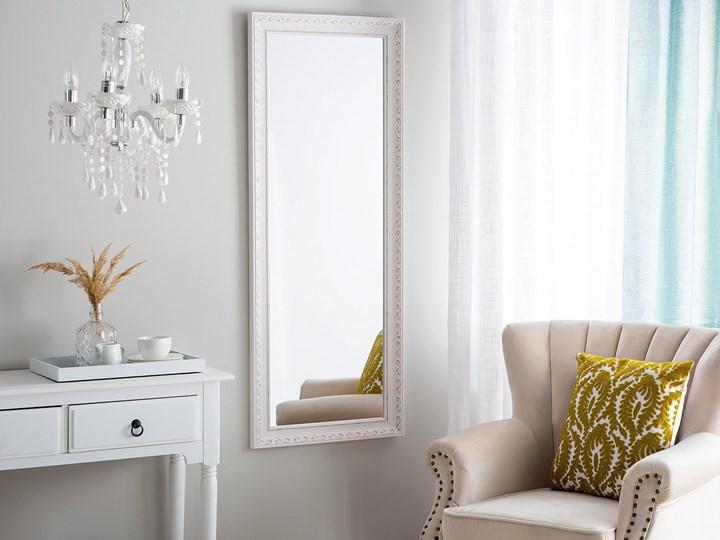 Lustro ścienne wiszące biało-srebrne 50 x 130 cm łazienka przedpokój Lustro z ramą Prostokątne Styl Klasyczny