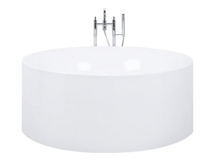 Wanna wolnostojąca biała akrylowa ø 140 cm okrągła nowoczesna Wolnostojące Kolor Biały Kategoria Wanny