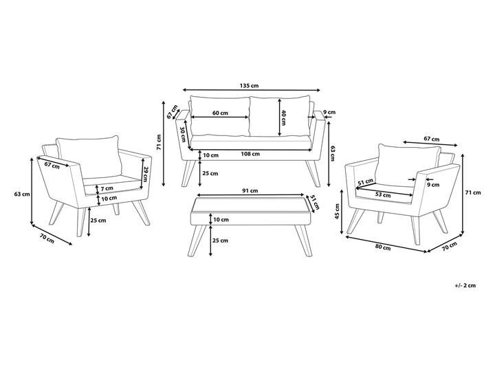 Zestaw mebli ogrodowych 4-osobowy wypoczynkowy szaro-brązowy technorattan sofa dwa fotele poduszki stolik kawowy Stal Zestawy kawowe Zestawy wypoczynkowe Tworzywo sztuczne Kategoria Zestawy mebli ogrodowych