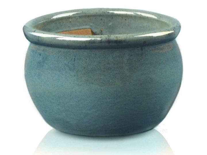 Donica Ceramiczna 7542250 Glazed Round Pot 500 X 320 Mm Turkus