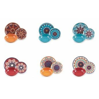 18-częściowy komplet kolorowych naczyń z porcelany i kamionki Villa d´Este Shiraz