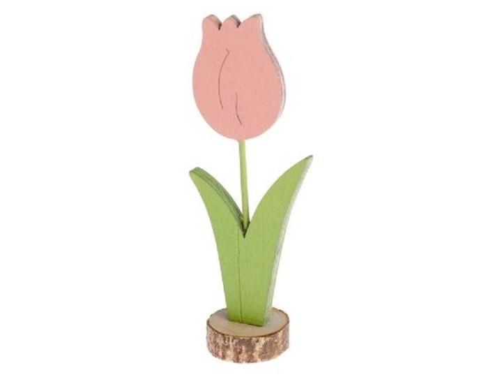 Drewniany tulipan 12,5x5x3 cm Różowy Drewno Drewno