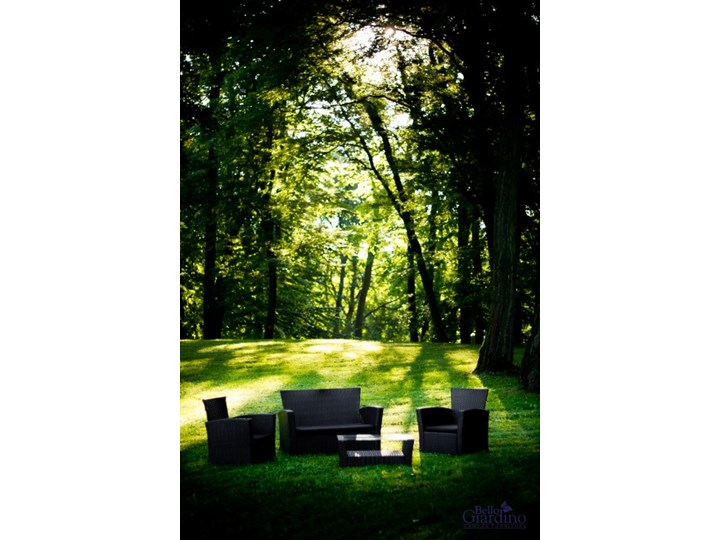 Meble ogrodowe z technorattanu UNICO Zawartość zestawu Stół Zestawy wypoczynkowe Kategoria Zestawy mebli ogrodowych
