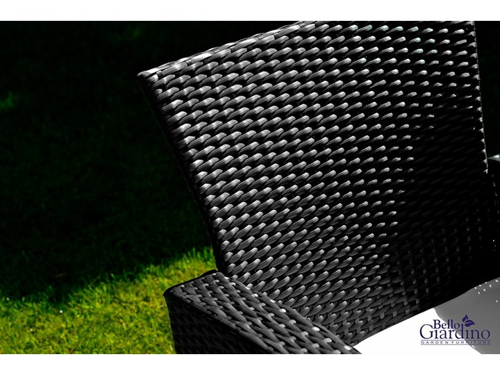 Meble ogrodowe z technorattanu UNICO Zestawy wypoczynkowe Kolor Czarny