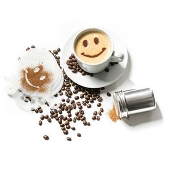 Szablony do kawy i shaker - zestaw