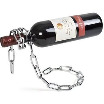 Łańcuchowy stojak na butelkę