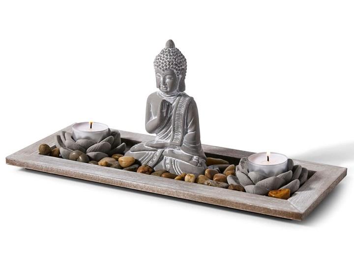 Dekoracyjna taca Budda i świece